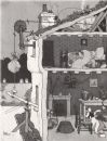 HEATH ROBINSON. An Incendiary in the loft. Second World War, old print 1973